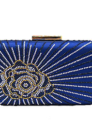 cheap -Women's Beading / Crystals Polyester / PU Evening Bag Floral Print Black / Purple / Yellow