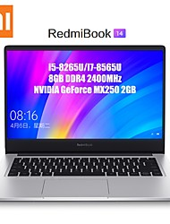 cheap -Xiaomi RedmiBook Laptop 14 Inch Intel Core i7-8565U 8GB DDR4 512GB SSD NVIDIA GeForce MX250 2GB GDDR5 Windows10 Laptop Notebook
