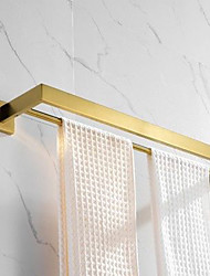 cheap -Double Towel Bar Brushed Gold Wall Mounted Bathroom Accessories European Style Shower Room Furniture Pendant Washroom Towel Rack