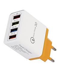 Недорогие -Зарядное устройство 4usb 3a мобильный телефон планшетный компактный портативный быстрая зарядка насадка европейский стандарт зарядное устройство