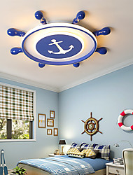 cheap -1-Light LED40W Novelty Flush Mount Lights  Ceiling Lights Bed Room Kids Room Warm White White Dimmable With Remote