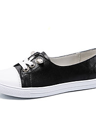 cheap -Women's Flats Flat Heel Round Toe Mesh / Tissage Volant Casual / Minimalism Spring & Summer / Fall & Winter Black / White / Color Block