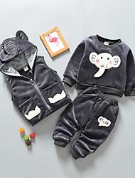 cheap -Baby Boys' Basic Solid Colored Long Sleeve Regular Regular Clothing Set Black