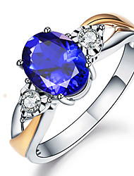 cheap -Created Blue Sapphire Rings For Women Silver 925 Sterling Jewelry Ring Wedding Engagement Party Gift sapphire ring