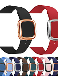 cheap -Modern Buckle Genuine Leather strap for apple watch band 42/44mm 38/40mm iwatch 5 4 3 2 1 bracelet wrist watch strap
