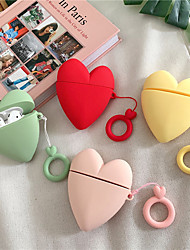 cheap -Earphone case For AirPods case cute Love heart Pocket Monsters Silicone case For Apple Airpods 2 Headphone Finger Ring Strap
