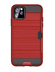 cheap -Case For Apple iPhone 11 / iPhone 11 Pro / iPhone 11 Pro Max Card Holder / Shockproof Back Cover Armor Plastic