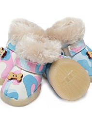 Недорогие -Собаки Ботинки и сапоги Рождество Праздник Классика Мода Для домашних животных Плюшевая ткань Красный