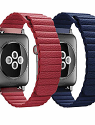 cheap -Genuine Leather loop strap for apple watch band 44mm 40mm 42mm 38mm Leather Magnetic loop bracelet iwatch 5 4 3 2 Accessories