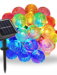 cheap -1pcs 50 LEDS 7m Crystal Ball Solar Lamp Power LED String Fairy Lights Solar Garlands Garden Christmas Decor For Outdoor