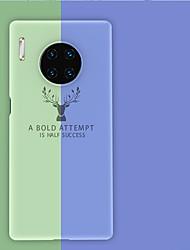 Недорогие -Кейс для Назначение Huawei Huawei P30 / Huawei P30 Pro / Huawei Mate 20 pro Матовое / С узором Кейс на заднюю панель Слова / выражения / Животное ТПУ