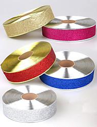 Недорогие -2 м яркая лента для рождественских и свадебных украшений и альбом шириной 5 см с проволочными краями