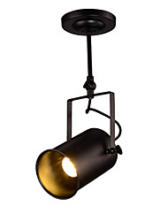 cheap -Vintage Sprt Light Black Painted Pendant Lights 1 pc LED 5W E26/E27  Warm White / Cold White Bulb Included