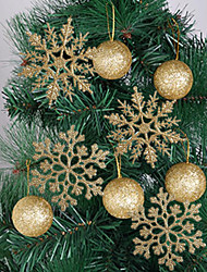 cheap -Holiday Decorations New Year's Christmas Ornaments Decorative Gold / Blue 10pcs