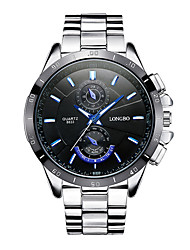 cheap -Men's Dress Watch Quartz Stainless Steel Silver Noctilucent Analog Fashion Colorful - Black White