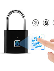 cheap -Rechargeable USB Security Door Keypad Fingerprint Intelligent Keyless Security Padlock Quickly Unlocking