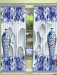 cheap -Three Dimensional Blue Snd White Porcelain Environmental Protection Digital Printing 3D Curtain Shading Curtain High Precision Black Silk Cloth High Quality Curtain
