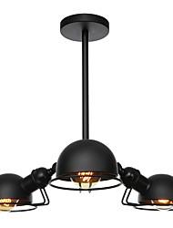 Недорогие -3-х головная северная европа винтаж гальваническая люстра металлические молекулы подвесные светильники гостиная столовая гальваническая отделка 110-120v / 220-240v