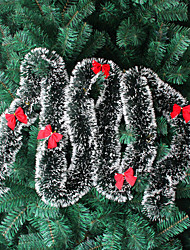 cheap -Christmas Tree Decorations Christmas Decorations Christmas Color Strips Christmas Tops Dark Green And White Borders With Bows