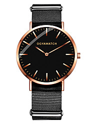 cheap -Couple's Dress Watch Quartz Formal Style Stylish Leather Nylon Black / Brown Casual Watch Analog Fashion Minimalist - Black White / Brown Black / Rose Gold One Year Battery Life / Stainless Steel