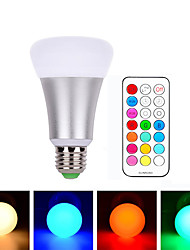cheap -1pcs E27 10W RGBW LED Bulb Dimmable Ball Light LED Desk Lamp Downlight Droplight Lighting with 21 Key Remote Controller