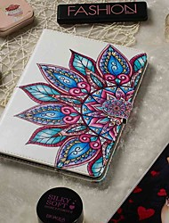 cheap -Adjustable Case For Apple / Samsung Galaxy / Huawei / Sony Xperi / Acer / Asus / Amazon / Lenovo Universal Wallet / Card Holder / with Stand Full Body Cases Half Flower PU Leather 9.4-10.5 Inch