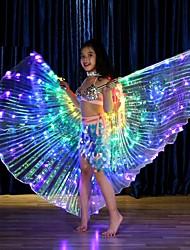 Недорогие -Детская одежда для танцев Танцевальные костюмы Воротник-шаль LED Девочки Для вечеринок Выступление Терилен