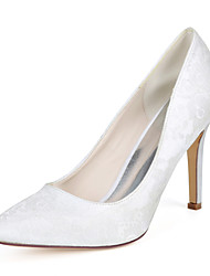cheap -Women's Wedding Shoes Stiletto Heel Pointed Toe Lace Minimalism Fall / Spring & Summer White / Ivory / Light Purple / Party & Evening