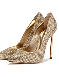 cheap -Women's Heels Stiletto Heel Pointed Toe Synthetics Spring &  Fall Gold / Party & Evening