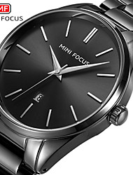 cheap -MINI FOCUS Men's Dress Watch Quartz Formal Style Modern Style Black / White 30 m Water Resistant / Waterproof Calendar / date / day Casual Watch Analog Classic Fashion - Black Black / White White