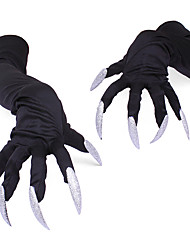 cheap -Skeleton / Skull Gloves Halloween Props Men's Party / Evening Gloves Halloween Halloween Festival / Holiday Screen Cloth Black Men's Women's Carnival Costumes