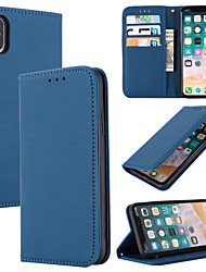 cheap -Case For Apple iPhone 11 / iPhone 11 Pro / iPhone 11 Pro Max Card Holder Full Body Cases Solid Colored Genuine Leather