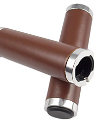 cheap -Bike Handlerbar Grips Retro Comfortable Durable For Road Bike Mountain Bike MTB Fixed Gear Bike Cycling Bicycle Soft Leather Brown