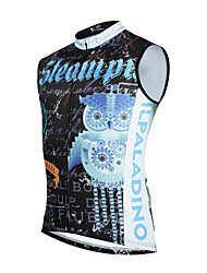 cheap -ILPALADINO Men's Sleeveless Cycling Vest - Black Bike Winter Fleece Jacket Motorcyle Clothing UV Resistant Fleece Lining Sports Winter Silk Fleece Terylene Mountain Bike MTB Clothing Apparel