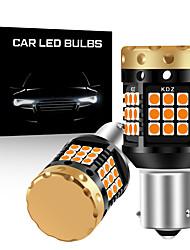 cheap -2pcs/lot NO hyper flash 1156 BA15S P21W BAU15S PY21W T20 7440 Bulb Turn Signal Light Amber 12v 3030 36/45SMD Canbus Error Free Leds