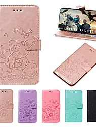 cheap -Case For Apple iPhone 11 / iPhone 11 Pro / iPhone 11 Pro Max Wallet / Card Holder / Embossed Full Body Cases Solid Colored / Animal PU Leather