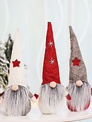 cheap -Santa Claus Christmas Ornaments Faceless Doll Gnome Plush  Home Party Decoration New Year Gift