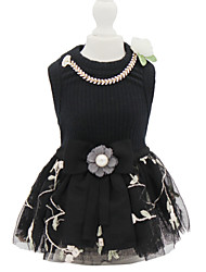 cheap -Dogs Cats Pets Dress Dog Clothes Black Costume Polyster Princess Dresses&Skirts S