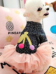 cheap -Dogs Cats Pets Dress Dog Clothes Dark Blue Costume Polyster Princess Fruit Cute XS S M L XL