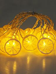 Недорогие -сделай сам лимон ломтик фрукты форма лампы строка 4 м 20led лампы хэллоуин украшения фестиваль украшения аа батареи питания 1 шт.