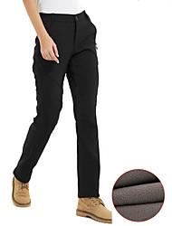 cheap -Women's Hiking Pants Softshell Pants Winter Outdoor Thermal / Warm Windproof Breathable YKK Zipper Spandex Softshell Pants / Trousers Camping / Hiking Hunting Fishing Black Burgundy Grey S M L XL XXL