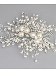 cheap -Crystal / Imitation Pearl / Alloy Hair Combs with Crystal / Imitation Pearl 1 Piece Wedding Headpiece