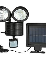 Недорогие -1шт 5 Вт солнечный настенный светильник солнечный / инфракрасный датчик / новый дизайн белый 3.7 В наружное освещение / двор / сад 22 светодиодные шарики