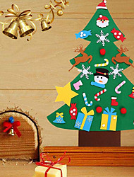 cheap -DIY Felt Christmas Tree New Year Gifts Kids Toys Artificial Tree Wall Hanging Ornaments Christmas Decoration for Home