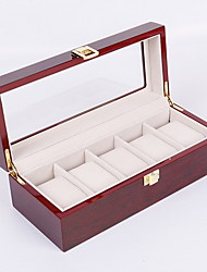 cheap -5 Slot Watch Box  Watch Storage Case with Lock and Key, Birthday Fathers Day Mothers Gifts Presents for Men and Women