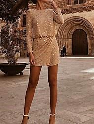 Недорогие -Жен. Блуза Юбки Однотонный