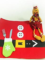 cheap -Christmas Table Mat Christmas Table Ornament Knife Fork Mat Coffee Mat Christmas Ornament