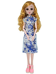 cheap -Doll Dress Ethnic For Barbiedoll Jacquard Vintage Lace Cotton Cloth Organza Dress For Girl's Doll Toy