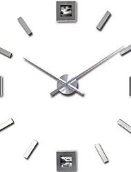 abordables -3d horloge murale bricolage décor autocollant miroir sans cadre grand kit d'horloge murale bricolage pour la maison salon chambre bureau décoration