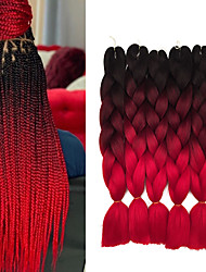 "cheap -Braiding Hair Straight Extension Twist Braids Afro Kinky Braids Synthetic Hair 3 Pieces Hair Braids Natural Color 24 inch 24"" Heat Resistant Synthetic 100% kanekalon hair Dailywear African Braids"